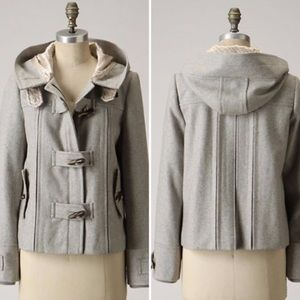 Elevenses First Frost Recycled Wool Pea Coat 2